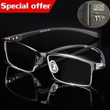 ce62e37ec0f6e Gafas tr90 titanium miopía gafas de marco de los hombres gafas de lectura  cómodo antideslizante Marco de gafas para hombres