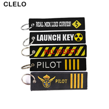 CLELO Travel Accessories luggage tag with OEM Key Ring Chain Embroidery  baggage Lables bag For Aviation