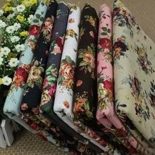 24*22CM 5 Assorted Pre Cut Flower Floral Printed Charm Cotton Quilt Fabric Fabric Bundles
