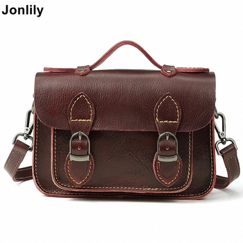 Jonlily Women Genuine Leather Crossbody Messenger Bags Shoulder Bag High Quality Giant Capacity Casual Female Briefcase -KG079