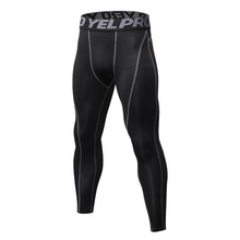 купить Men Compression Tights Running Pants Sports Leggings Fitness Sportswear Long Trousers Gym Training Skinny Leggings дешево