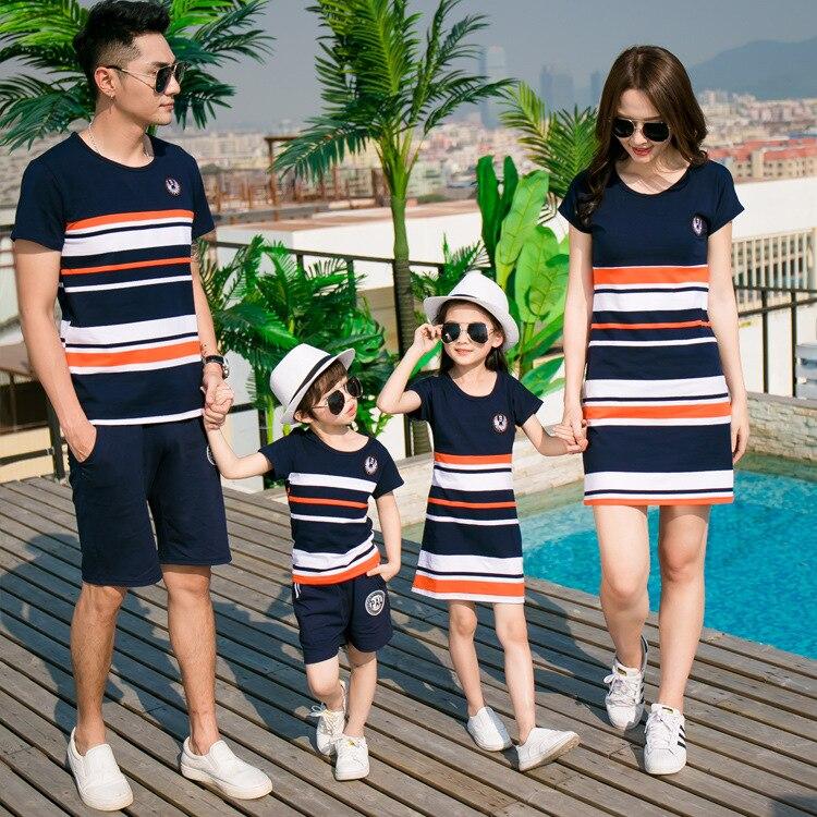Familie passender kleidung mutter tochter kleider sohn outfits ...