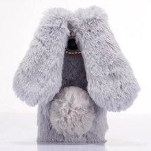 3D прекрасный мультфильм теплый плюш пушистый Pet Кролик ТПУ Soft Back Cover Case S для Samsung Galaxy S7/S7 край длинные уши Телефон Case