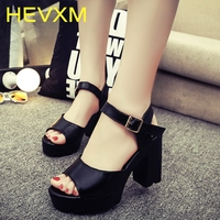 New Women Shoes Spring Summer Ladies Footwear Casual Thick Heels Platform Sandals Girls Woman High Heels