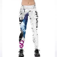 3D Tiger Imprimer Blanc Leggings Femmes Fitness Legging Sexy Nouveaux Styles Stretch Respirant Mèche Leggign Leggins
