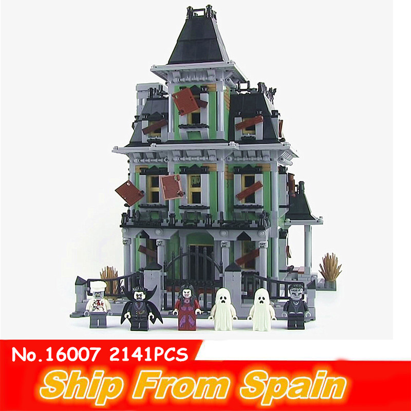 ship from spain 16007 the haunted house Building Blocks Compatible maison 10228 toys bricks architecture toy