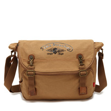 2016 Classic Vintage Canvas Shoulder Crossbody Messenger Notebook Bag Multifunction Student Pack