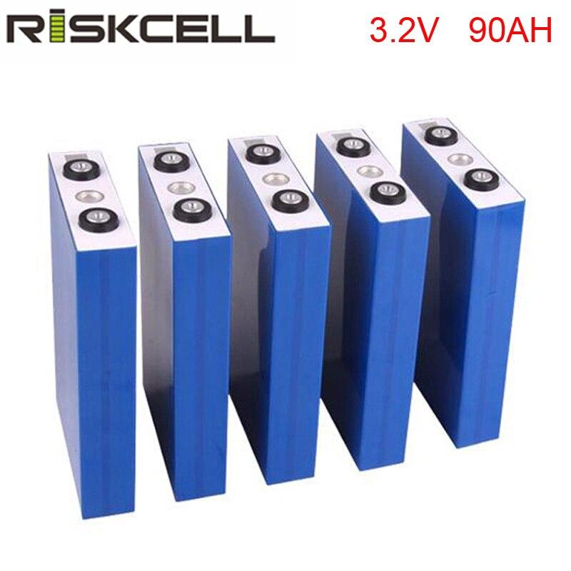 4PCS/LOT LiFePO4 3.2V 90Ah Lithium Battery for Emergency Light, Lamp, Solar Street Light,ups,golf car,electric bike