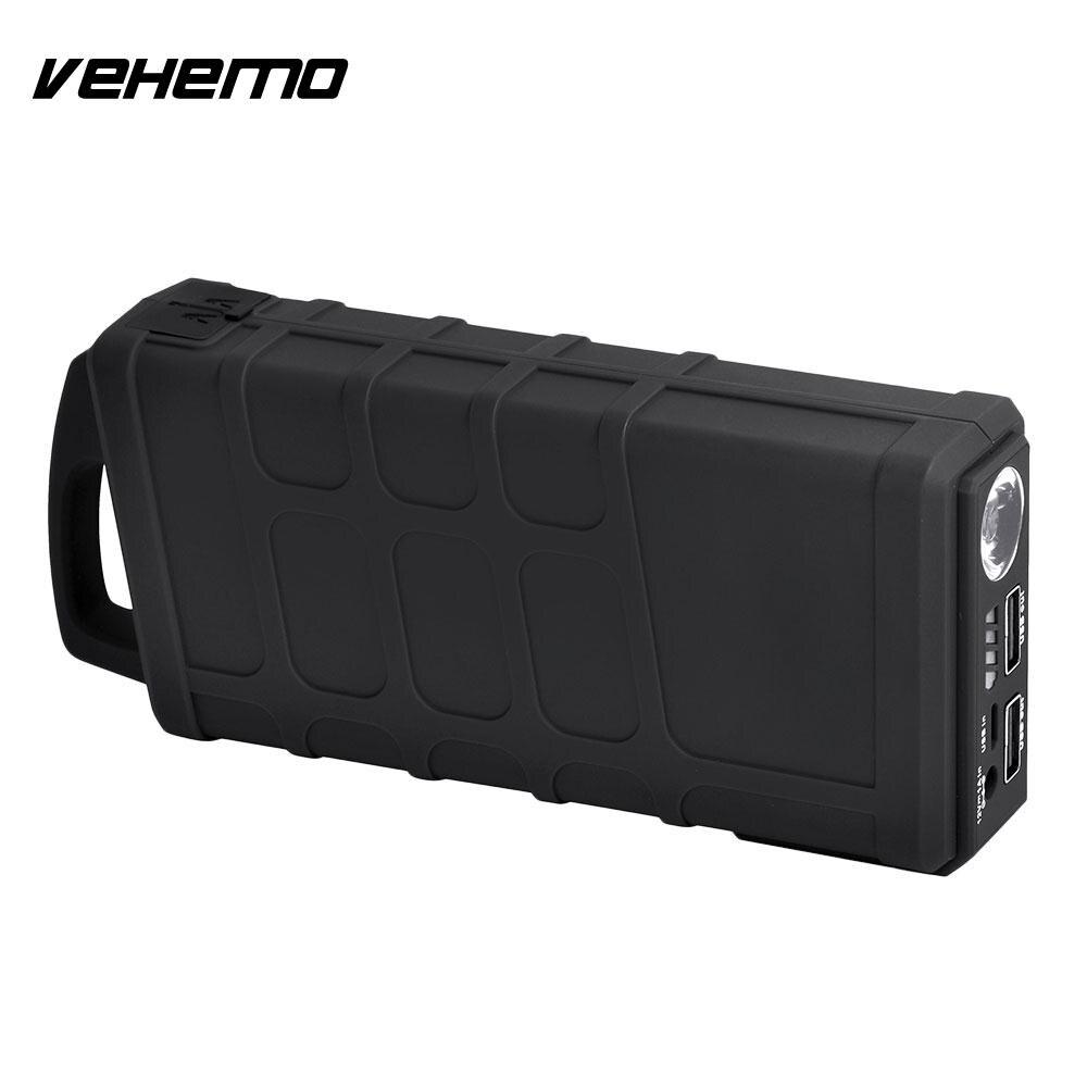 Vehemo Automobile bloc d'alimentation batterie saut démarreur saut démarreur 10000 mAh US/EU/UK/AU Plug Smart 600A crête chargeur de batterie - 2
