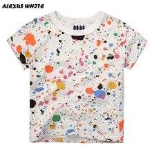 Cartoon Graffiti Boys T-shirt 2017 Summer Baby Clothes Short-Sleeved Cotton Tops Kids Boy Tee Shirts Children's Clothing 2-7Y