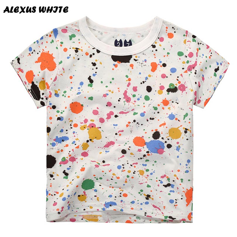 Cartoon Graffiti Boys T-shirt 2018 Summer Baby Clothes Short-Sleeved Cotton Tops Kids Boy Tee Shirts Children's Clothing 2-7Y