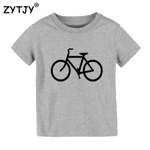Bicycle bike Print Kids tshirt Boy Girl t shirt For Children Toddler Clothes Funny Top Tees Drop Ship Y-60