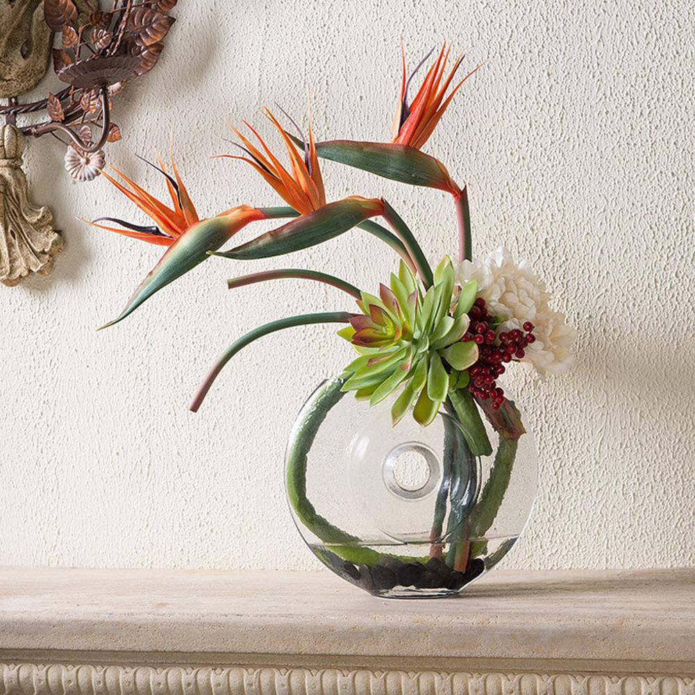 Us 2 45 40 Off 20 Beautiful Artificial Flower Bird Of Paradise Fake Plant Silk Strelitzia Reginae Home Decor In Dried