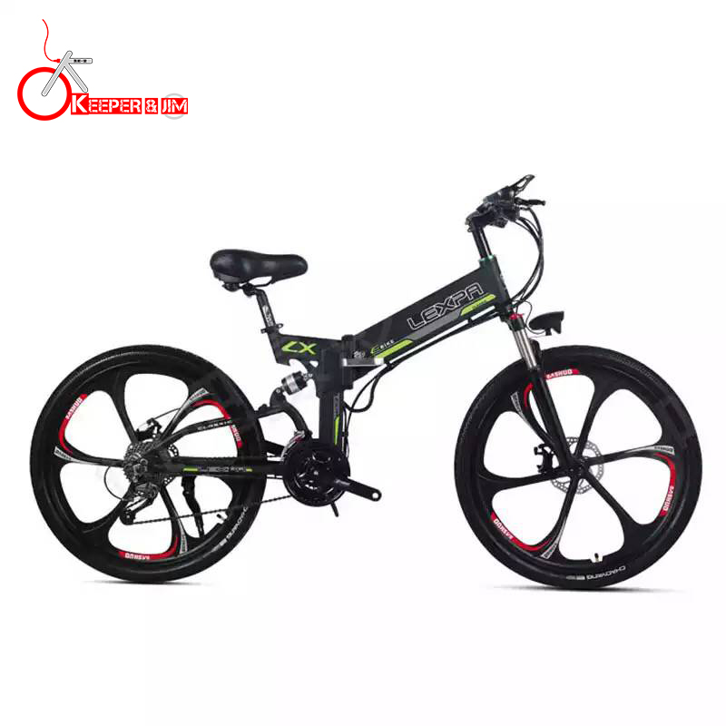 26 pulgadas elektro mountainbike 48V400W motor de alta velocidad Leichte marco versteckte de litio-batterie elektrische ebike