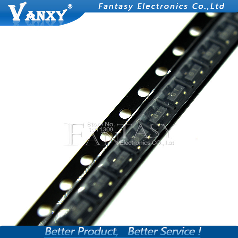100PCS 2N5551 SOT23 MMBT5551 G1 SOT23-3 SMD Bipolar Transistors - BJT PNP Transistor  New And Original