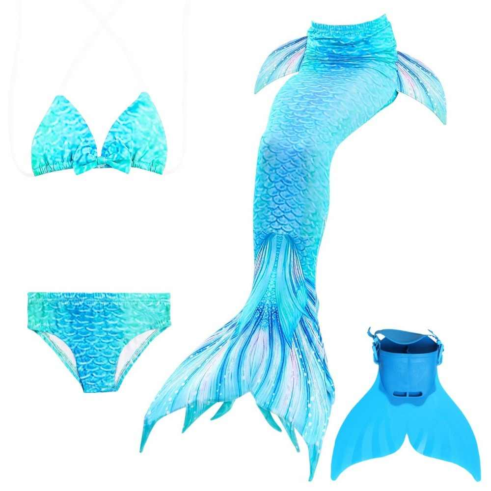 03c66d3264 Detail Feedback Questions about 4pcs/ Mermaid Tail for swimming swimsuit  2018 mermaid children's bikini bathing suit hot spring baby swimming  swimsuit girls ...