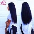 Класс 7А Перуанский Девственные Волосы Прямые, 3 Шт. Лот Дешевые Необработанные, Прямые Человеческие Волосы Расслоения Роза Долго Перуанской волосы Девственницы