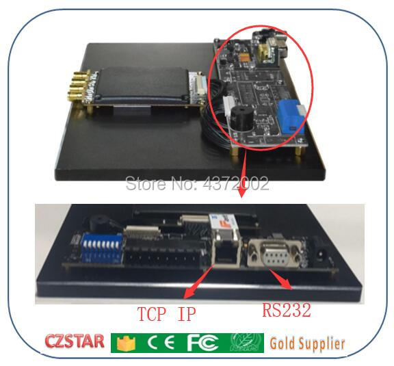 4 canal impinj r2000 uhf lecteur rfid TCP/IP RJ45 pour 860-960 MHZ UHF antenne rfid gestion des stocks de l'entrepôt chronométrage sportif