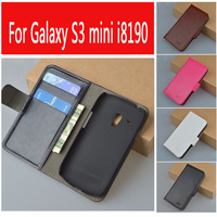 Leather Case For Samsung Galaxy SIII Mini I8190 I8190N Flip Cover Case For Samsung S III
