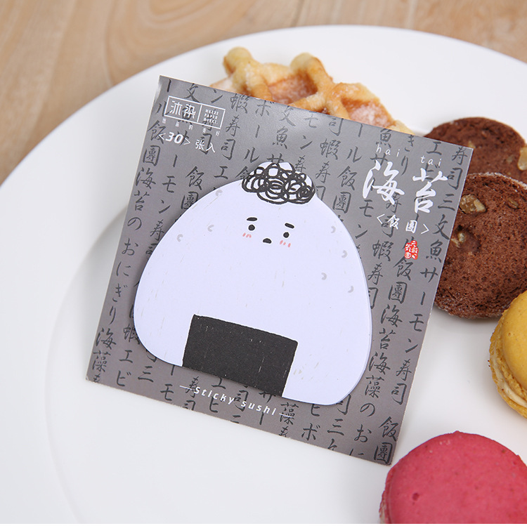 30Pages/pack New Novelty Sushi Memo Pad Sticky Notes Memo Notebook Stationery Gift School Supplies M0021