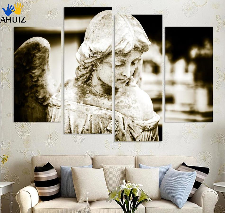 ▽4 Panels Ancient angel girl Canvas Print For Living Room Painting ...