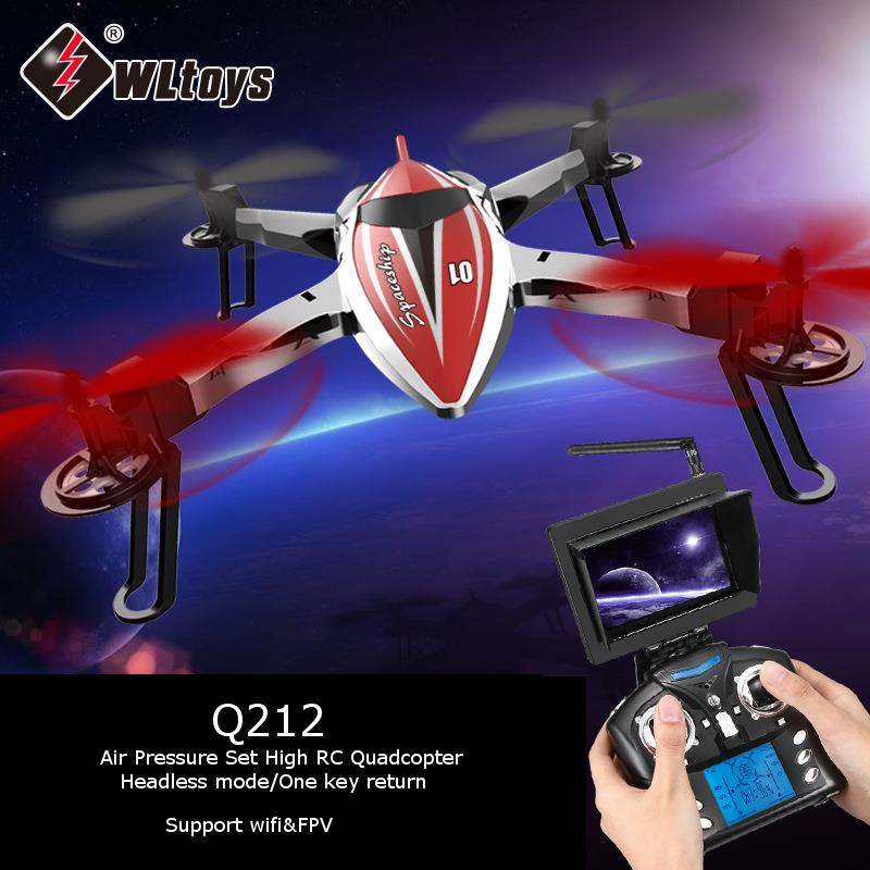 ФОТО WLtoys Q212 Q212G Barometer Air Pressure Set High RC Quadcopter Support 5.8G FPV&Wifi Helicopter With Camera Headless Mode Drone