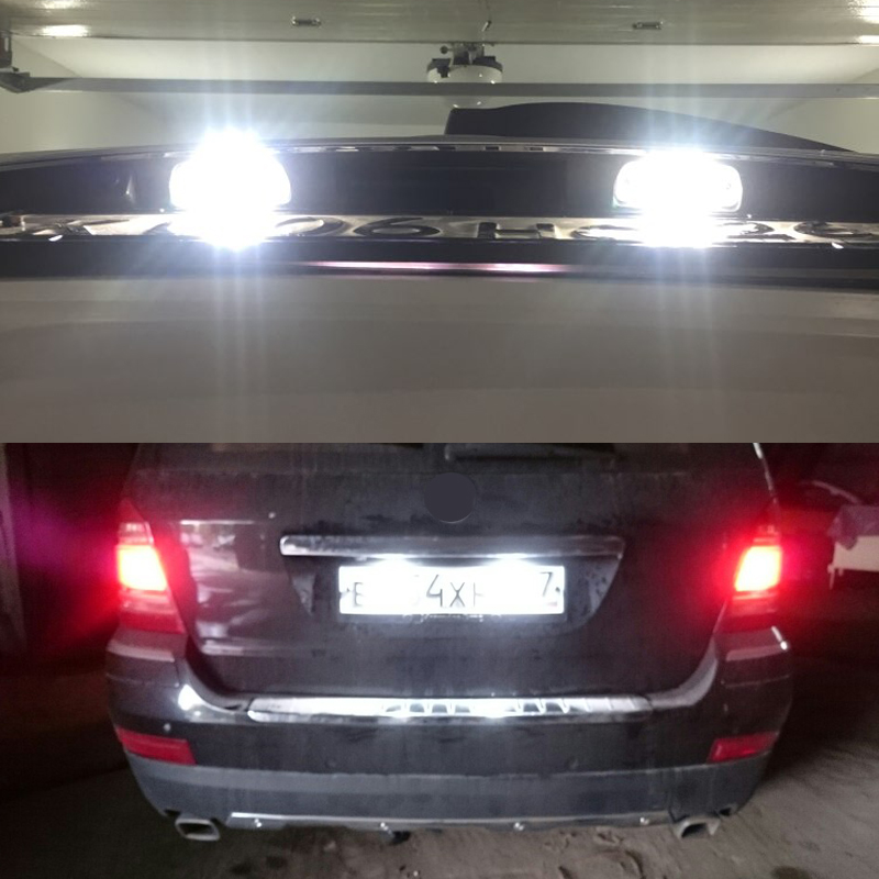 Image 5 - 2x Error Free Led Number License Plate Light Car Tail Lamps For Benz R Class W251 ML CLass W164 GL Class X164 Replace 2518200066-in Signal Lamp from Automobiles & Motorcycles