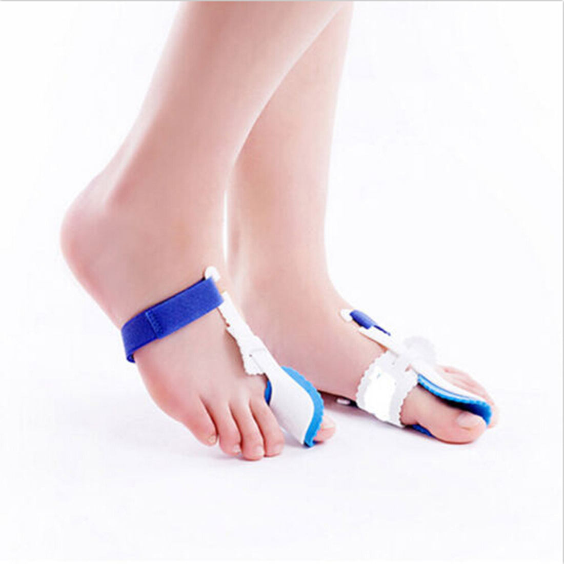 1 pair 2 Pcs Big Toe Straightener bunion hallux valgus Corrector Night Splint relief foot pain foot care цена
