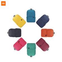 Xiaomi Mijia küçük sırt çantası 10L kapasiteli Unisex hafif çantalar 4 sınıf için su geçirmez malzeme açık seyahat eğlence