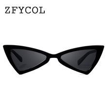 ZFYCOL 2018 Fashion Small Sunglasses Women Cat Eye Vintage Black Glasses Ladies Stylish Sun glasses Female UV400