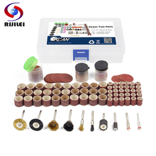 RIJILEI 150PCS Grinder Tools Kit Rotary Polishing set Mini Drill Grinding Bit kit for Cutting Carving grinder head Abrasive Tool
