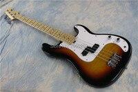 hot sale fen bass guitar,vintage sunburst color.maple fingerboard.flamed maple top .Chinese bass guitar