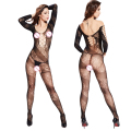 Women's Sexy Body Stockings Classy Simple Open Crotch Round Neck Fishnet Bodystocking Porn Lingerie Bodysuit 2016