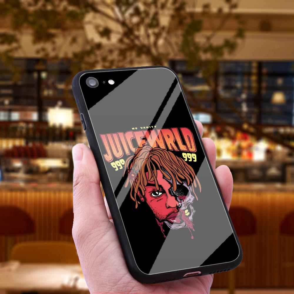 WEBBEDEPP Juice Wrld Lucid Dreams Tempered Glass Phone Case for Apple  iPhone Xr Xs Max X or 10 8 7 6 6S Plus 5 5S SE 7Plus