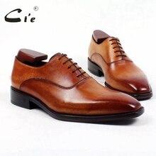 Cie/Повседневные Мужские модельные туфли ручной работы из натуральной телячьей кожи с квадратным плоским носком на заказ; деловые кожаные туфли на шнуровке; OX421