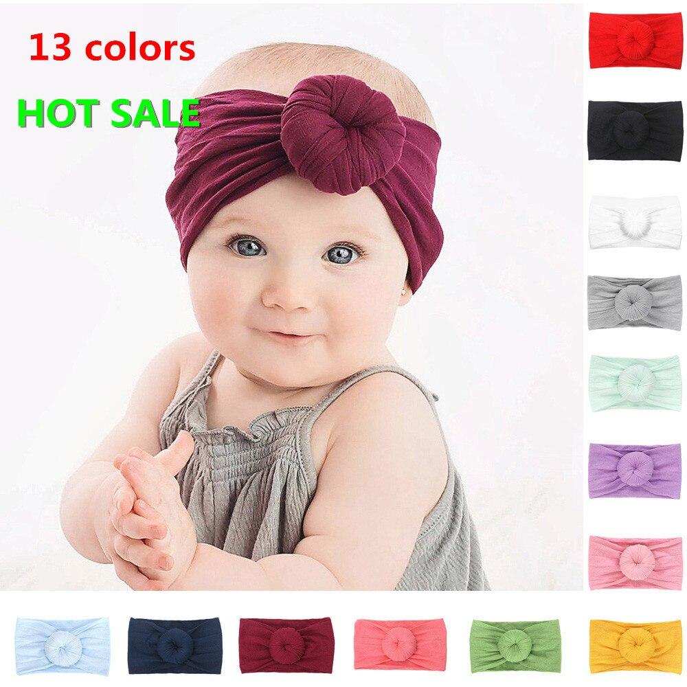 2019 Kids Circle Headband Stretch Bow For Girl Hairbands Turban Knot Kids Turbans Accessoire Cabelo Para Bebe Headband Baby Girl
