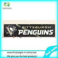 Pittsburgh Penguins Wide Tailgate Banner Flag 8X2FT Custom Flag