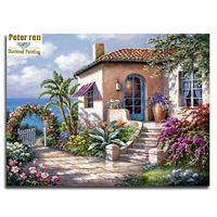Marina Villa Full Diamond Embroidery Landscape Diy Diamond Painting House 3d Diamond Mosaic Square Icon Paste