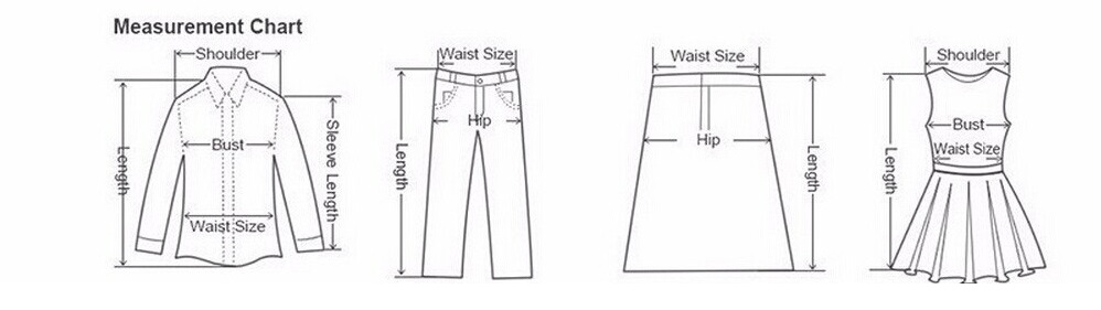 衣裤裙尺码