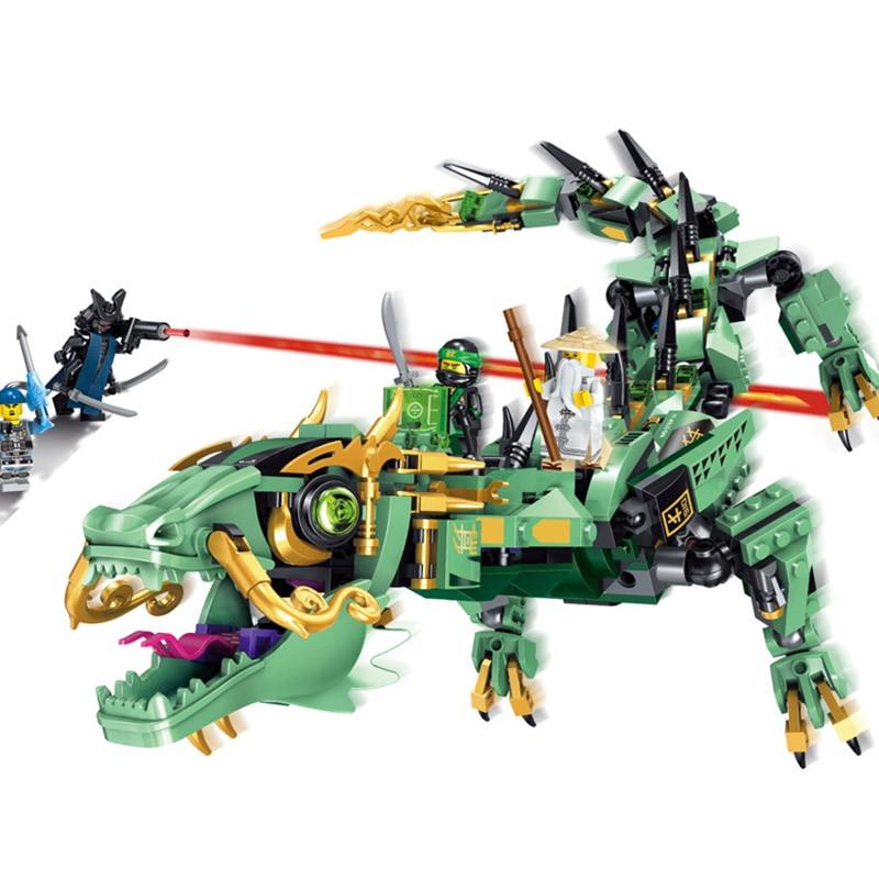 Blocks Toy NEW LEGO Ninjago Green Ninja Mech Dragon 70612 Building Kit 592 Pcs