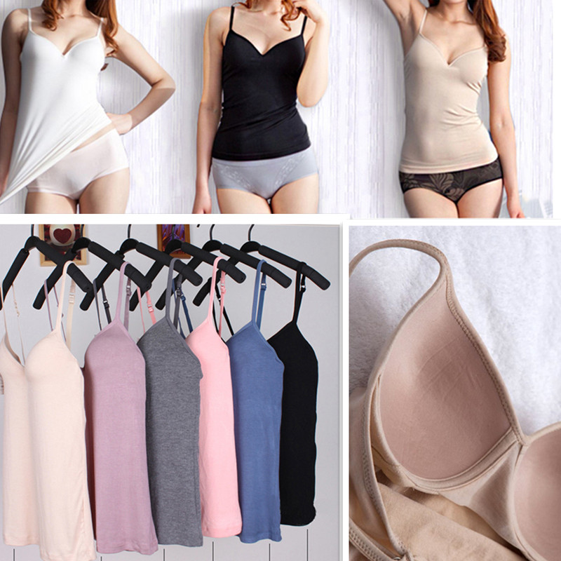 M L Women Summer   Tanks     top   Wireless Padded Bra Ladies Camis Fitness Push Up Vest   Tanks   Workout   top   elastic Camisole camiseta