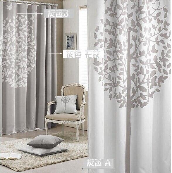 Online Shop Moderno tende della finestra stampato albero grigio ...