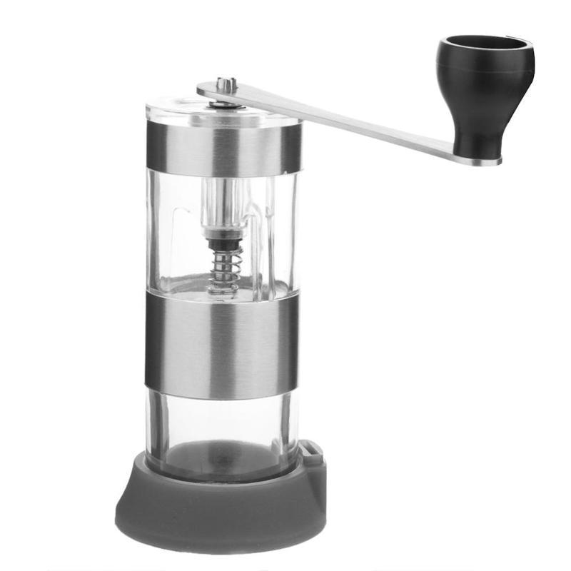 цена на Adjustable Ceramic Manual Coffee Grinder Stainless Steel Coffee Beans Grinding Mills Machine Burr Coffee Mill Grinder Tools