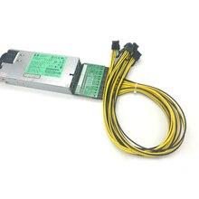 цена на GPU Mining Power Supply Kit - 1200W PSU, Breakout Board, 6pcs PCIe 6Pin Cables