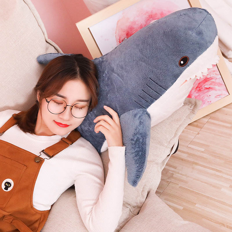 Image 4 - Nooer 80cm 100cm Plush Toys Stuffed Toy Shark Kids Children Toys Boys Cushion Girls Animal Reading Pillow for Birthday Gifts-in Stuffed & Plush Animals from Toys & Hobbies