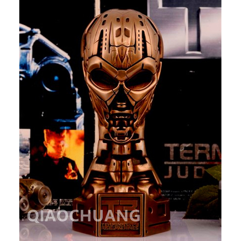 Classic1:2 Terminator Statue Endoskeleton T3 Skull Arnold Schwarzenegger Bust Bronze Edition Action Figure Collectible Model Toy neca the terminator 2 action figure t 800 endoskeleton classic figure toy 718cm 7styles