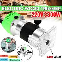 3300W 30000rpm Woodworking Electric Trimmer Wood Milling Engraving Slotting Trimming Machine Hand Carving Machine Wood Router