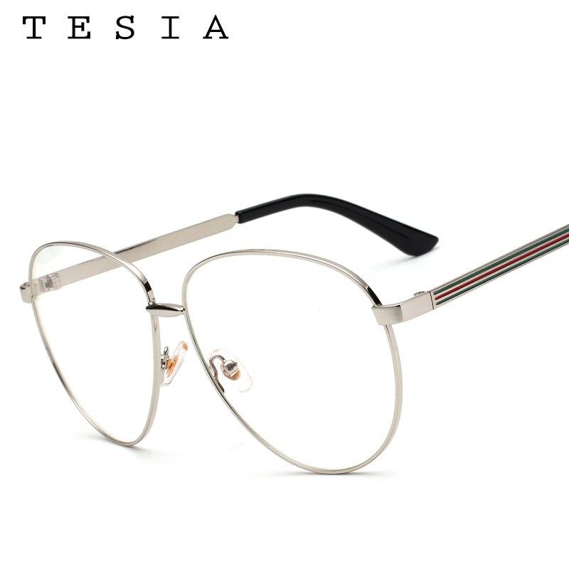 60db39abf3 TESIA Aviator Women Glasses Frame Brand Designer Men Eyeglasses Frame  Eyewear Clear Lens For Optical Glasses Myopia Frames T962-in Eyewear Frames  from ...