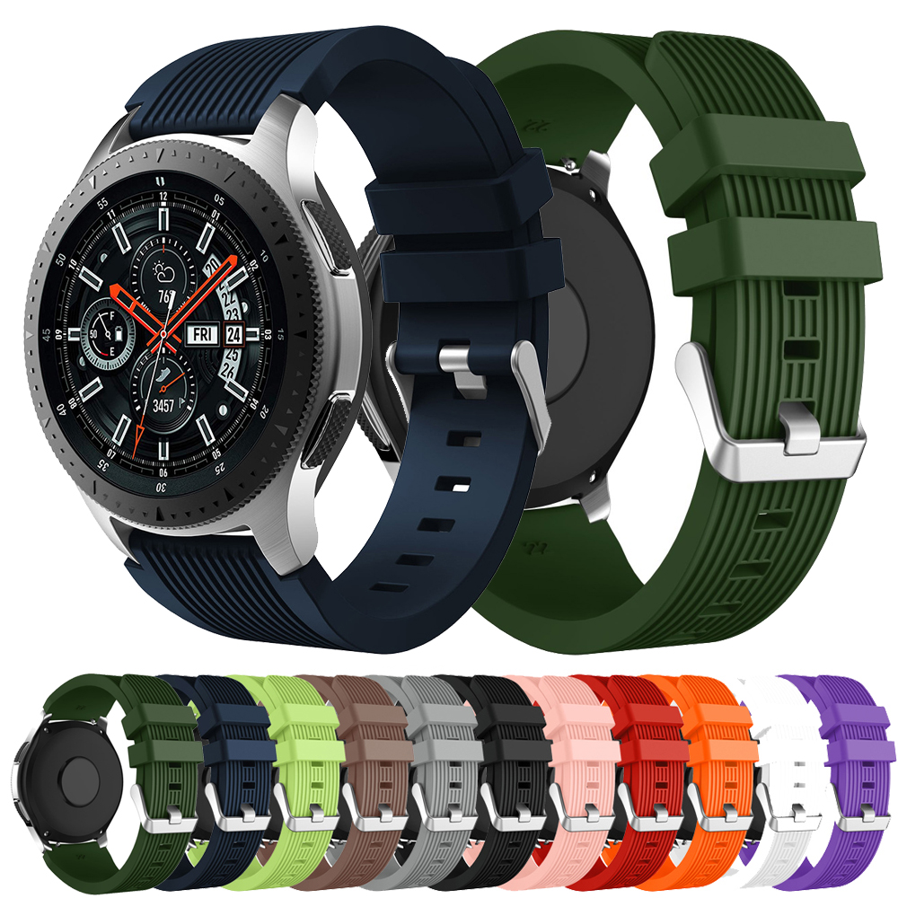 For Samsung Galaxy Watch 46mm Gear S3 Frontier / Classic Silicone Bracelet Watchband 22mm Watch Band Strap For Huawei Watch GT 2
