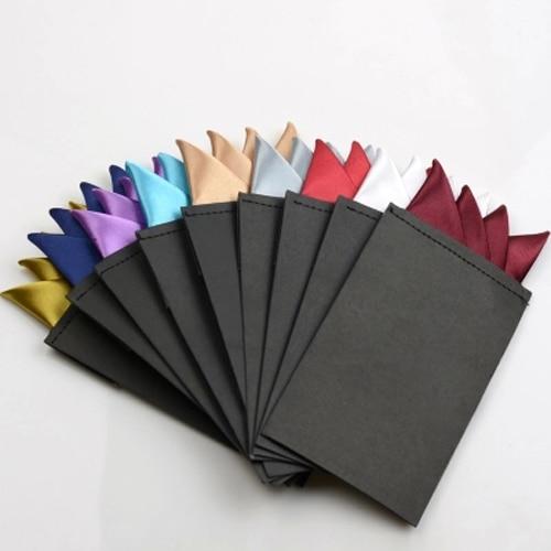 Fashion Men Solid Color Pocket Square Handkerchief Prefold Wedding Party Hanky  BWTYY0061